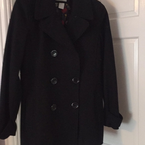 info for release info on enjoy big discount Delia's black wool pea coat
